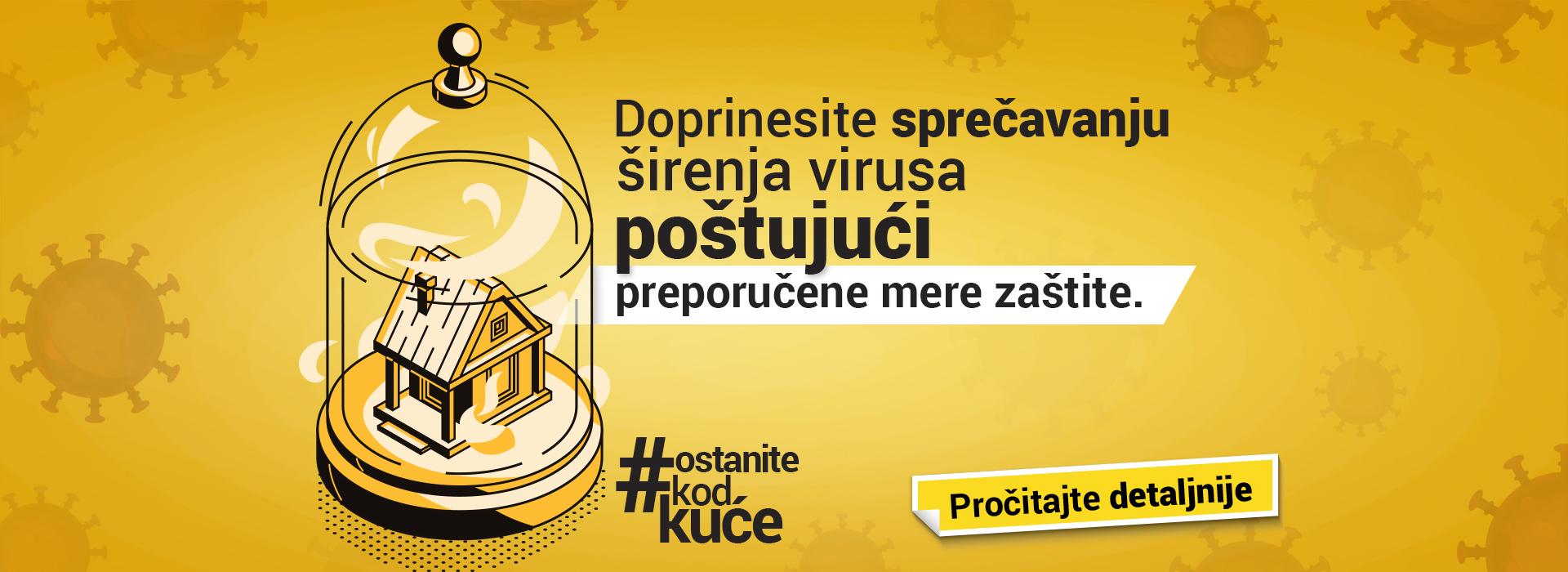 Doprinesite sprečavanju širenja virusa COVID-19